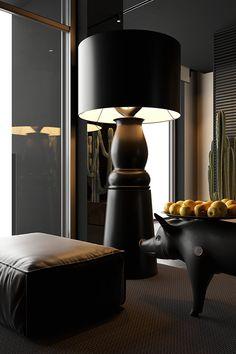 Modern Lighting Design, Dark Interiors, Loft, Interior Design Services, Service Design, Table Lamp, House Design, Inspiration, Behance