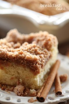 I grew up on this breakfast cake. The recipe dates way back to when my mom was a kid and is a cherished recipe in my grandma's cookbook. The cake paired with the delicious crumb topping makes for the perfect breakfast or snack. I know what you are thinking… that kind of sugar for breakfast? …
