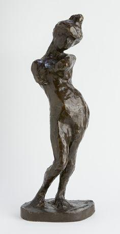 """Madeleine I"", 1901, cast 1925, Henri Matisse, French (1869-1954), bronze, 23 3/8 x 8 3/8 x 7 in. Gift of Etta and Claribel Cone, 1950. 1950.1092"