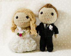 Custom Crochet Wedding Couple Bride and by AdventuresInYarnia, $85.00