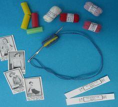 bitstobuy: How to make miniature balls of knitting wool for the dolls house