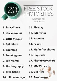 20 sites de ressources photo gratuites