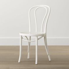 Vienna White Wood Dining Chair - Crate and Barrel