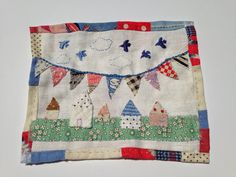 Colleen Darling and I are heading off to France and the Netherlands to take part in the wonderful world of French General& Chateau w. Applique Stitches, Embroidery Applique, Fibre And Fabric, Textile Fiber Art, Fabric Pictures, Textiles, Thread Art, Sewing Appliques, Fabric Houses