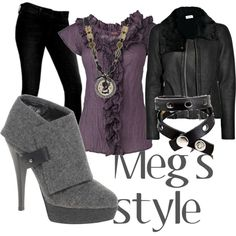 Meg's Style from Supernatural. Love the boots and jacket