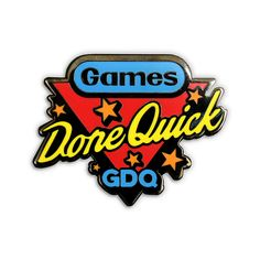 Show your GDQ allegiance with this official Games Done Quick lapel pin! Inspired by a famous world championship competition, this high-quality pin was designed by Jon Kay in support of GDQ charity marathons. Merchandising Companies, Video Game Logos, World Championship, Lapel Pins, Champs, Charity, Competition, Marathons, Lovely Things