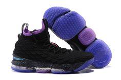 cd0fb98cc6d6 New arrive Nike LeBron 15 Pride of Ohio Black Purple Men s Sneakers  Basketball Shoes