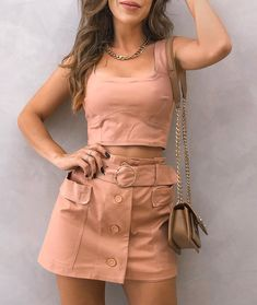 Pink Outfits, Skirt Outfits, Sexy Outfits, Pretty Outfits, Summer Outfits, Cute Outfits, Fashion Outfits, Girl Fashion, Womens Fashion