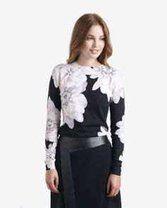 Monochrome Floral jumper