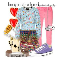 """Imaginationland"" by pickedadaytofly ❤ liked on Polyvore featuring Ralph Lauren Blue Label, Kevin Jewelers, Christian Lacroix, LucyQ Designs, Markus Lupfer, Good Work(s), Converse, disney, pixar and insideout"