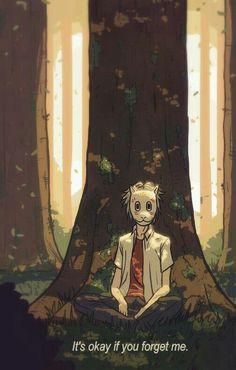 It's okay if you forget me, Gin, mask, forest, tree; Hotarubi no Mori e