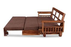 Sofa Come Bed Furniture, Glass Kitchen Cabinet Doors, Wood Sofa, Beds Online, Sofa Set, Sofa Design, Online Furniture, Seat Cushions, Solid Wood