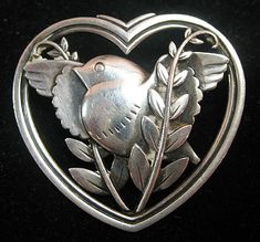 Georg Jensen bird pin