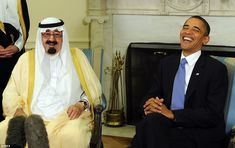The late Saudi King Abdullah  - pictured here with President Obama in 2010 - had been in hospital since December, and died on 22 January 2015.