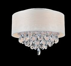 CWI Lighting Flushmount with Off-White Shade Flush Mount Chandelier, Flush Mount Lighting, Ornamental Mouldings, Shades Of Black, Chrome Finish, Room Inspiration, Light Fixtures, Off White, Ceiling Lights