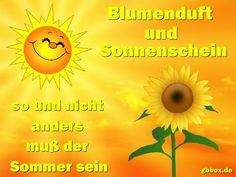 Sonnenschein und Blumenduft