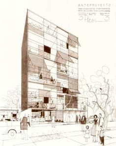 Dibujos de Augusto H. Álvarez     Edificio 3 Picos