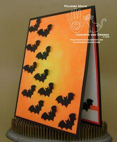 Bats Halloween card.