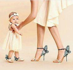 Sophia Webster Mini, Sophia Webster Shoes, Butterfly Shoes, Butterfly Fashion, Butterfly Baby, Mother Daughter Fashion, Mom Daughter, Daughters, Mommy And Me Outfits