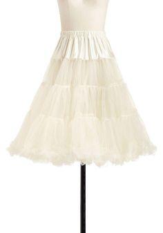 Va Va Voluminous Petticoat in Ivory - Cream, Solid, Tiered, Rockabilly, Pinup, Vintage Inspired, 50s, Luxe, Statement, Mid-length, Sheer, Variation, Best Seller, 60s, Valentine's, Wedding, Bride, Party, Best Seller