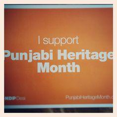 I support Punjabi Heritage Month, now you can too at www.punjabiheritagemonth.ca #punjabi #culture #language #ndp #april