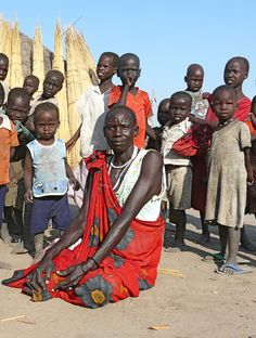 Tonga - Upper Nile Province | The Shilluk people in their village Yom.