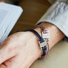 Men's Mini Id Plate Bracelet - 50th birthday gifts