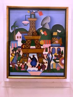 """Tem obras da Tarsila do Amaral na Pinacoteca de São Paulo. Essa é a  """"Carnaval em Madureira"""", de 1924."""