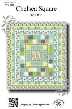 """Here's a quilt to show off a great collection or use up some stash. It finishes at 89"""" x 101"""" but because it's done medallion style you can stop at a smaller size. (suggestions included from wall hanging and up) Features Northcott's Chelsea collection including a beautiful border print."""