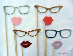 Photo Props: Girl's Night Out Set. Perfect for photo booth pictures, weddings, and parties.. $22.00, via Etsy.