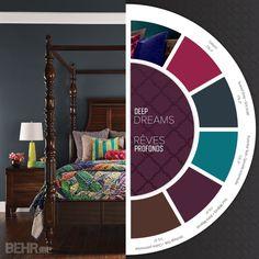 deep dreams dark colors will transform a bedroom into a