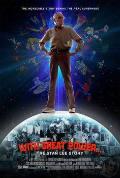 """Qué paja se ve el afiche de """"With Great Power..."""", la peli de Stan Lee :]"""