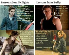 Lessons from Twilight vs. Lessons from Buffy