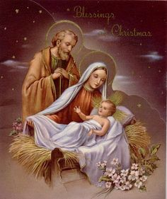Christmas Blessings ~ The Holy Family Mary Christmas, Christmas Nativity, Christmas Pictures, Christmas Art, Vintage Christmas, Christmas Jesus, Christmas Blessings, Christmas Graphics, Christmas Greetings