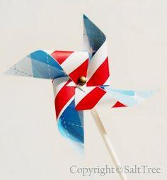 DIY Pinwheel toppers!!! Cute!!