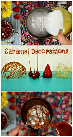 Learn how to decorate with caramel! #caramel #decorations