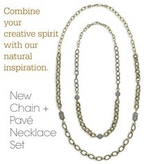 New Chain + Pavé Necklace Set! Perfect for your Trésors collection! Shop now! Click thru!