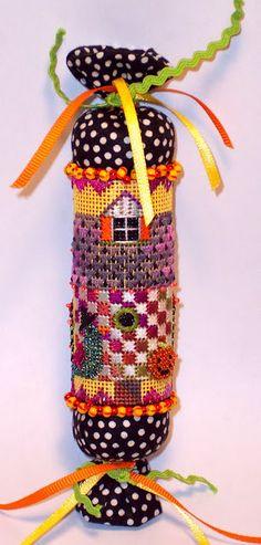 """EyeCandy Needleart: New Design """"Halloween Birdhouse"""" needleroll needlepoint"""