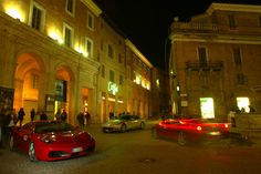 Night photo shooting with three Ferraris (F430, 575M & 612 Scaglietti) at Urbino, Italy. These were real good times!!! Photography (c) Thanos Iliopoulos, 4TPOXOI