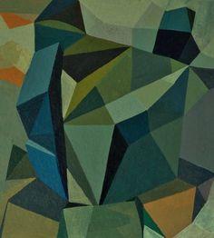 "Saatchi Online Artist: Amy Huddleston; Acrylic, 2011, Painting ""C Form Study 2"" #aloe"