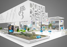 Dubai Holdings on Behance Exhibition Stall, Exhibition Booth Design, Exhibit Design, Trade Show Booth Design, Display Design, Web Banner Design, Store Layout, Futuristic Architecture, Convention Centre