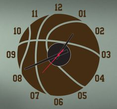 Naklejka zegar piłka koszykowa