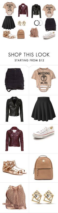 """Casual Outfit"" by kdavidson0923 on Polyvore featuring Moschino, IRO, VIPARO, Converse, Aquazzura, nooki design and Lokai"