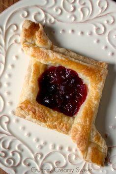 Cranberry Jam Diamond Pastry
