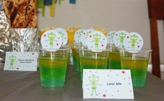 Lochies 4th Space Party - Jelly Cups