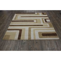 Multi with Jute Backing Power loomed Rug