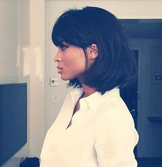 Gorgeous bob with full bangs