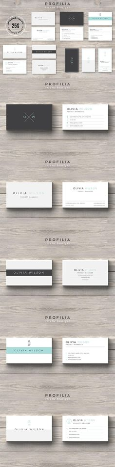 #businesscard #design from Profilia Resume Boutique | DOWNLOAD: https://creativemarket.com/Profilia_Resume/660245-BUNDLE-Modern-Business-Card-Template?u=zsoltczigler