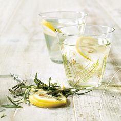 Rosemary Lemon Rhubarb Spritzer | Recipe | Lemon, Sparkling Punch and ...