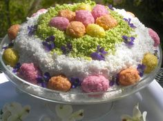 raw easter coconut cake